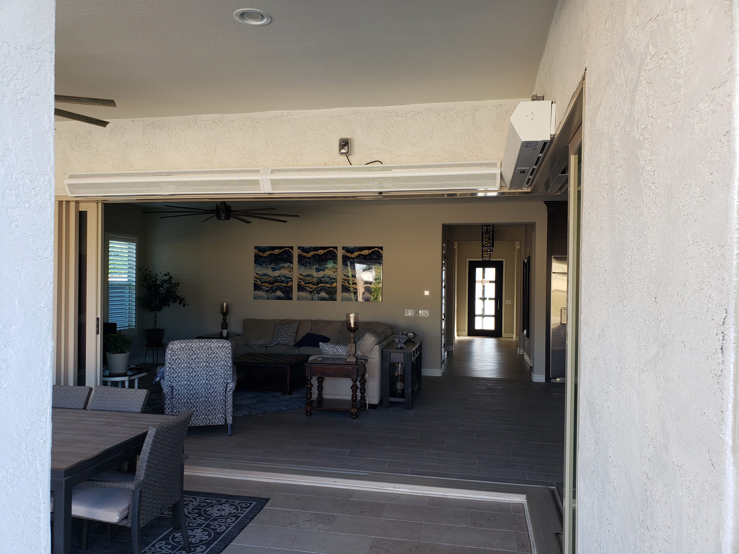 residential air curtain installation